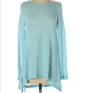 Chelsea & Theodore blue marled pullover sweater L